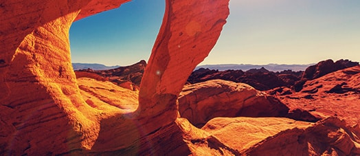 Colorful arches in Valley of the Fire State Park