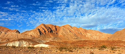 colorful mountains in Lake Mead National Recreation Area