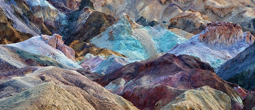 Colorful rocks in Death Valley