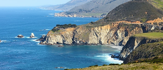 the cliffs at Big Sur