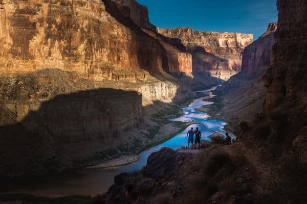 two hikers in the Grand Canyon