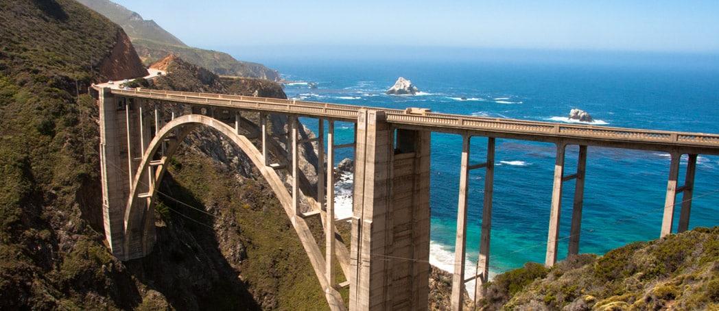 Bridge over the ocean at Big Sur