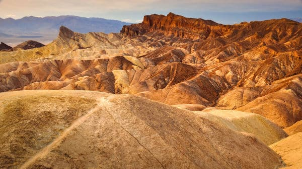 Zabriskie point in Death Vally California