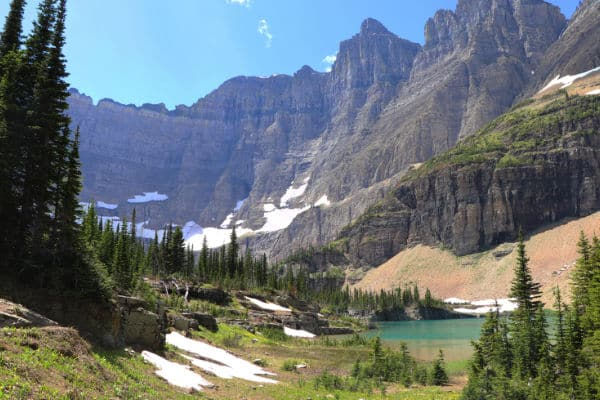 Large Mountains in Glacier National Park