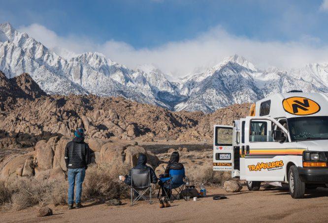 Campervan winter road trip