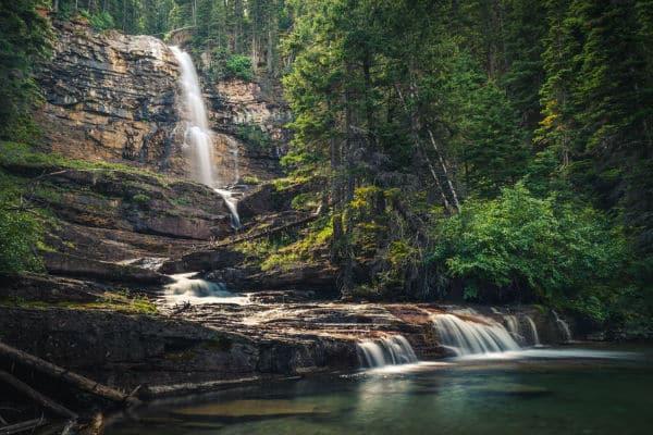 Virginia Falls in Glacier National Park