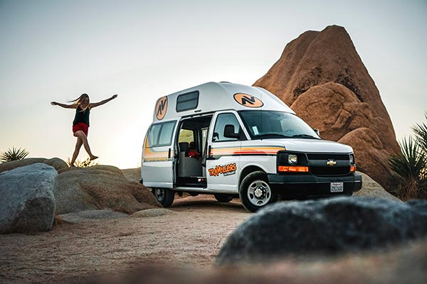 Camping in Joshua Tree with a Campervan