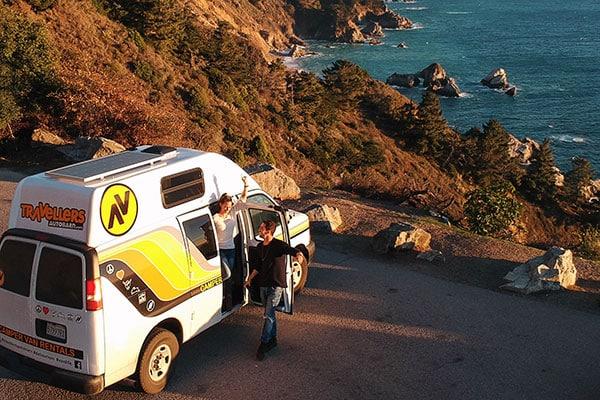 Campervan travel in Big Sur California