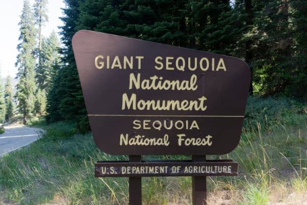 Sequoia National Forest Sign