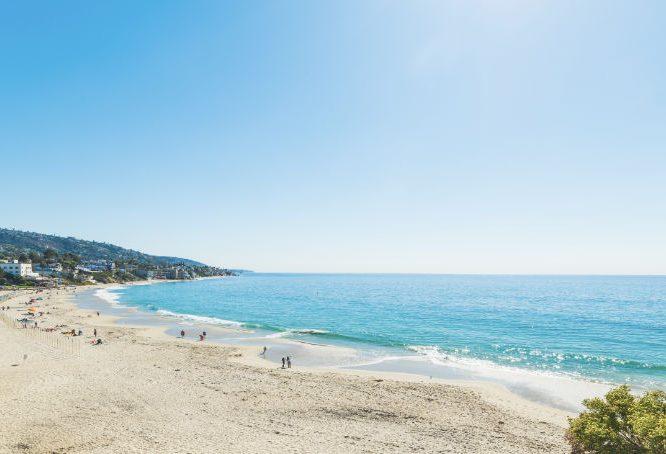 sandy beach in Laguna California