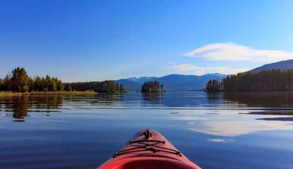 Kayak in Grand Lakes Colorado
