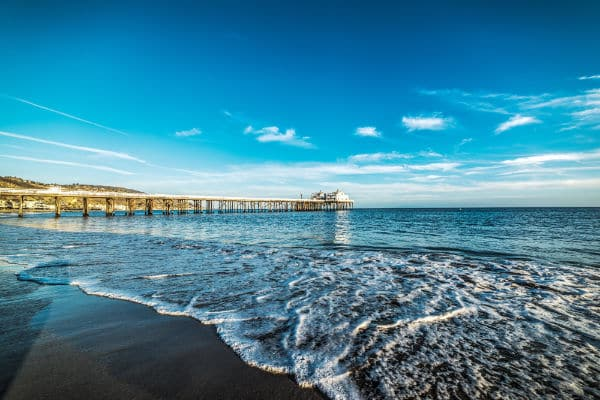 Malibu pier in California USA