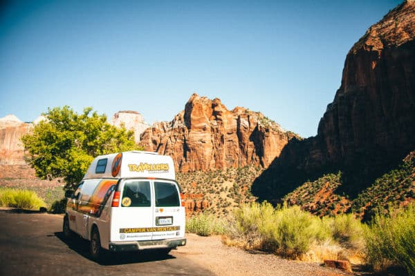 Campervan rental in Zion National Park