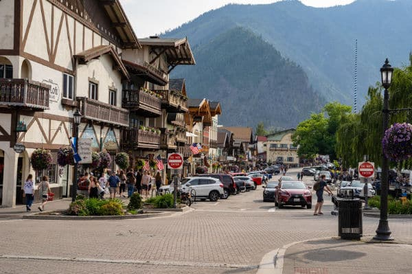 Leavenworth Washington in a campervan