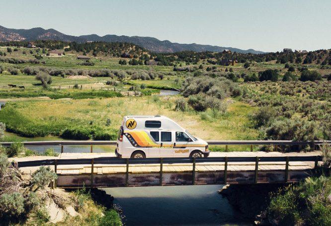 Travellers Autobarn campervan in Wyoming