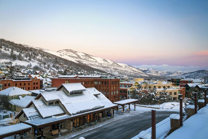 Snowy mountains at Park City, Utah