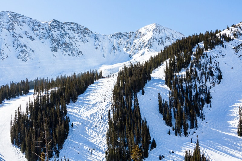 Snow covered mountains in Vail, Colorado