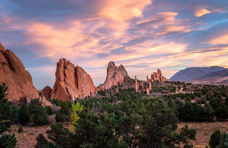Garden of the Gods Colorado Summer Campervan Road Trip Destinations in the USA
