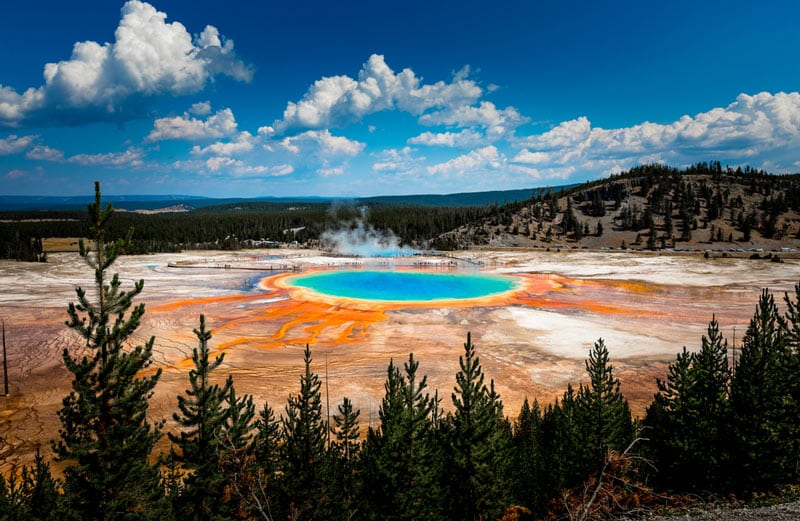 Yellowstone National Park Summer Campervan Road Trip Destinations in the USA