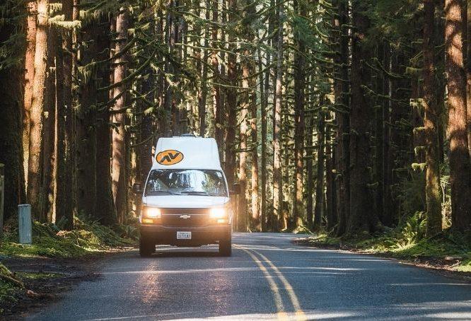 Cody Conk traveling in campervan