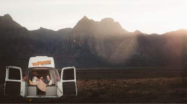 campervan in the sunrise