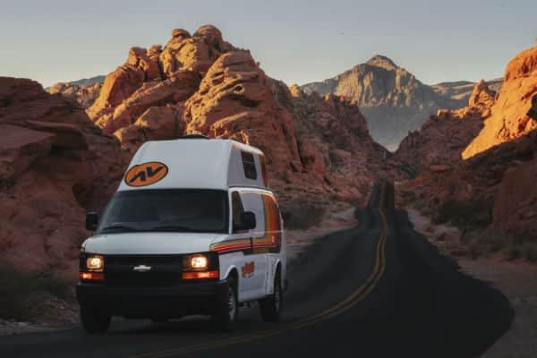 Camper van in Valley of Fire State Park