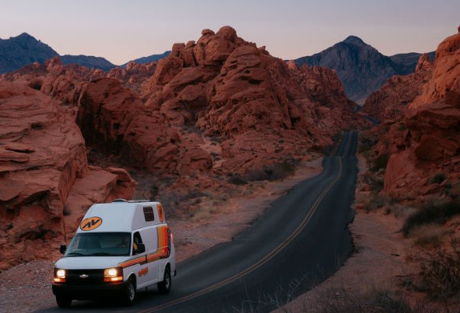 campervan in Valley of Fire State Park