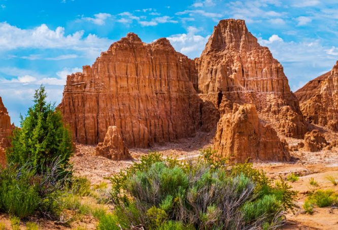 Cathedral Gorge State Park in Nevada